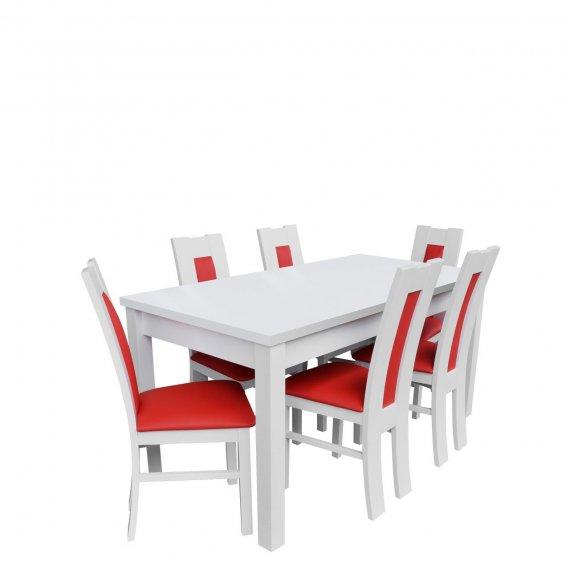 Stół z 6 krzesłami - RK017