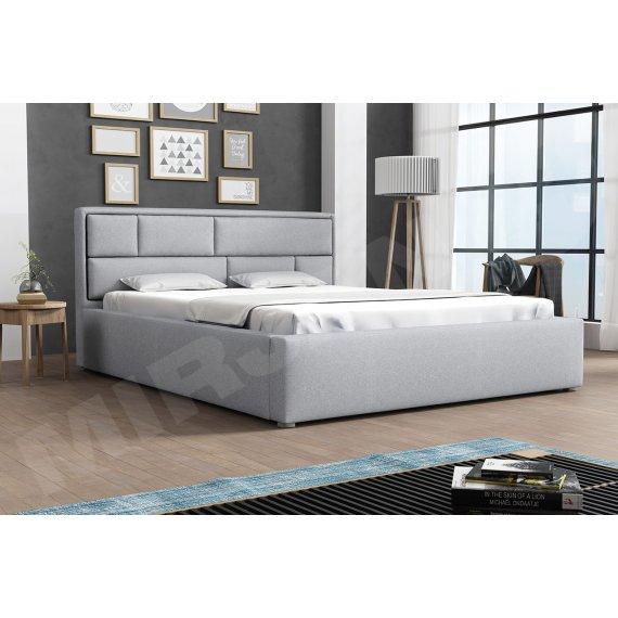 Łóżko tapicerowane z pojemnikiem i stelażem Nido