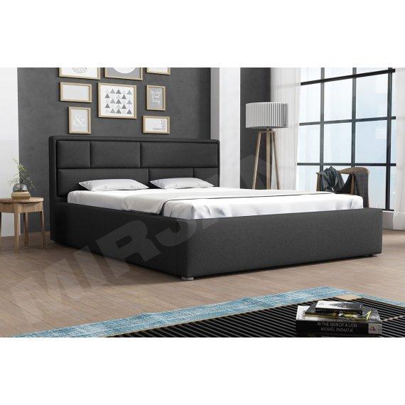 Łóżko tapicerowane ze stelażem rolowanym Nido