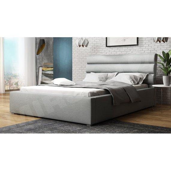 Łóżko tapicerowane z pojemnikiem i stelażem Exorim