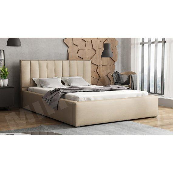 Łóżko tapicerowane z pojemnikiem i stelażem Sonden
