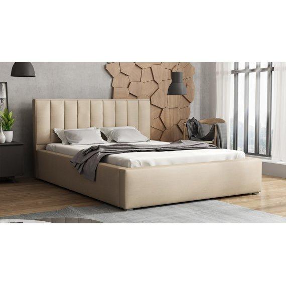 Łóżko tapicerowane ze stelażem rolowanym Sonden