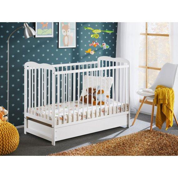 Łóżeczko dziecięce z materacem Prowansja II Plus 120x60