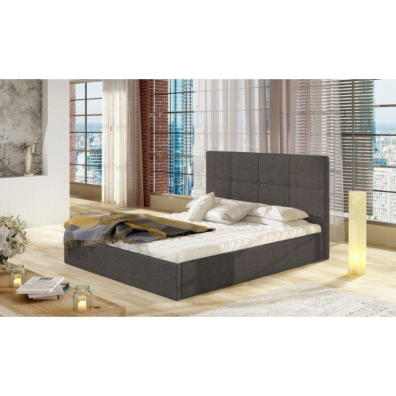 Łóżko tapicerowane Atenso Duo z pojemnikiem na pościel