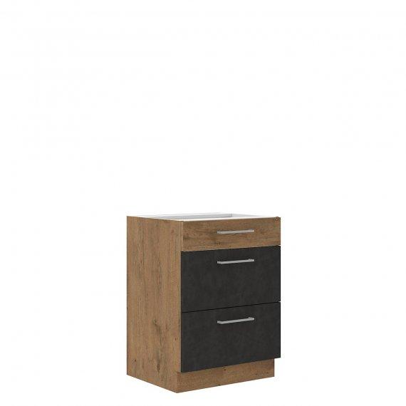 Szafka kuchenna dolna z szufladami Woodline 60 D 3S BB
