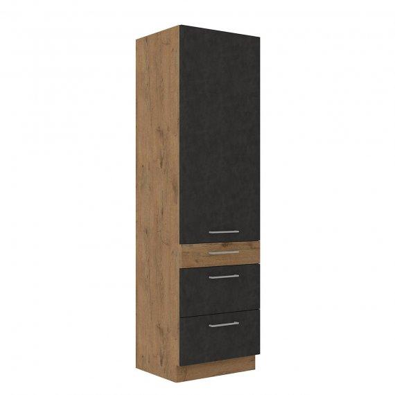 Szafka kuchenna wysoka Woodline 60 DKS-210 3S 1F