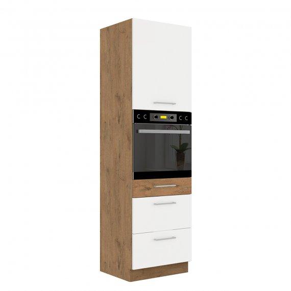Szafka kuchenna wysoka z szufladami Woodline 60 DPS-210 3S 1F