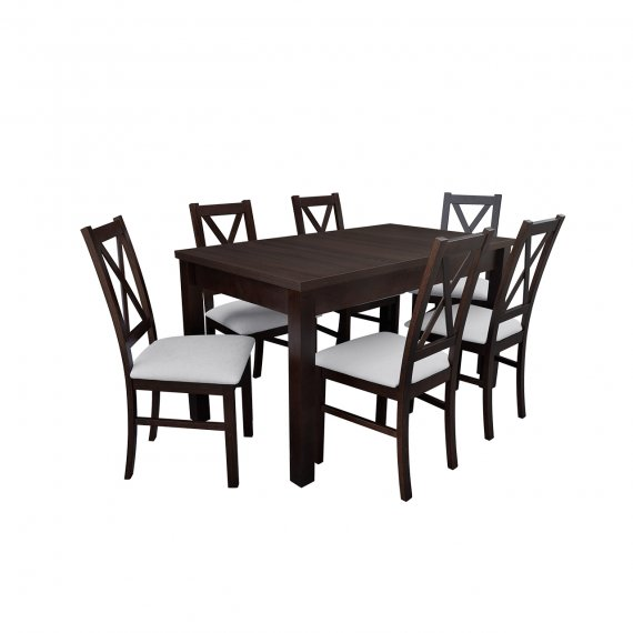 Stół z krzesłami dla 6 osób - RK052