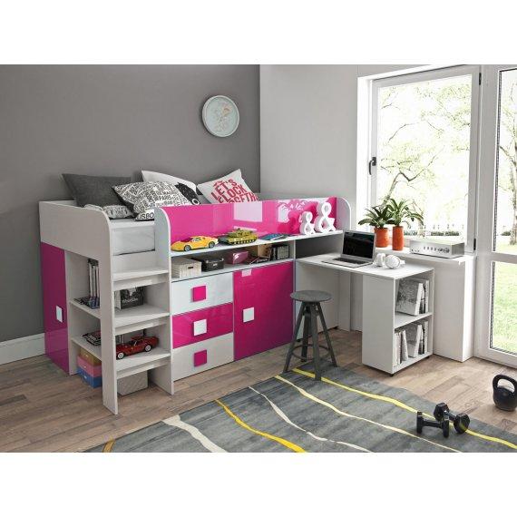 Łóżko piętrowe z biurkiem Tomson 1