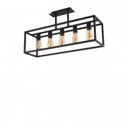 Lampa wisząca w stylu retro Crate Black 9047