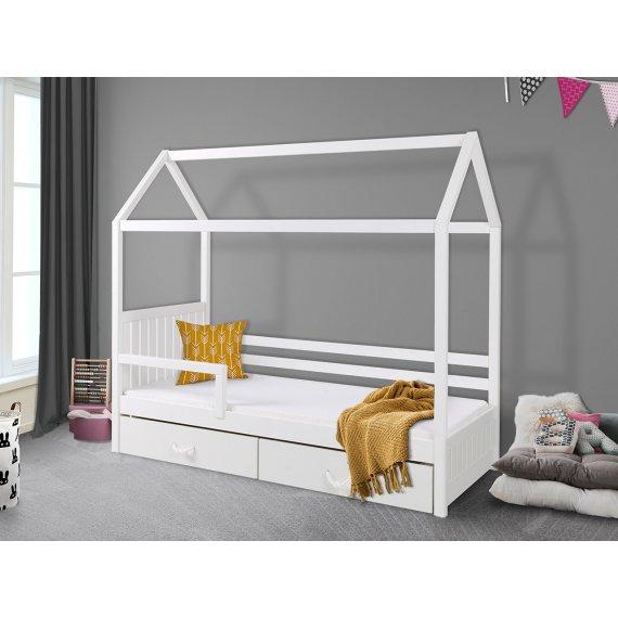 Łóżko jednoosobowe z barierką Pieris II 80