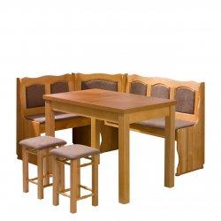 Narożnik kuchenny + stół z taboretami Soter