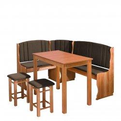 Narożnik kuchenny + stół z taboretami Soter II