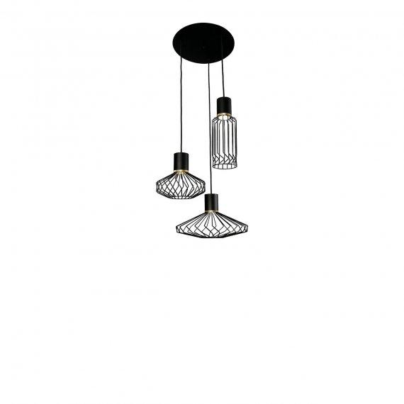 Lampa indrustrialna Pico black-gold III 8863