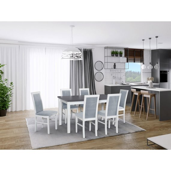 Stół rozkładany z 6 krzesłami - AL01