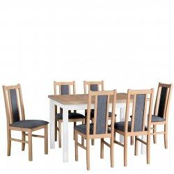 Stół rozkładany z 6 krzesłami - AL03