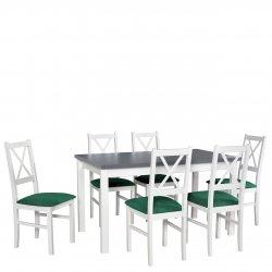 Stół rozkładany z 6 krzesłami - AL04