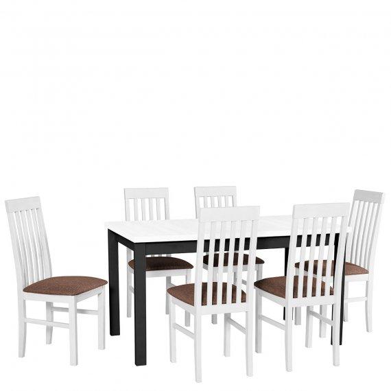 Stół rozkładany z krzesłami - AL07
