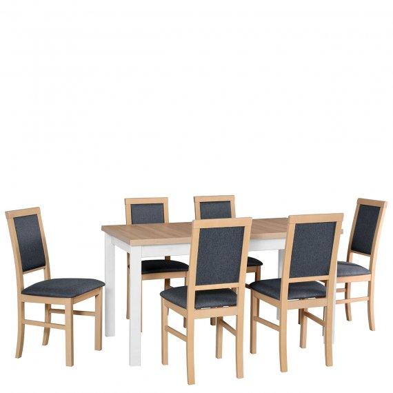Stół rozkładany z 6 krzesłami - AL10