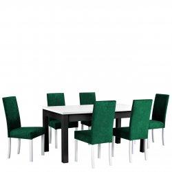 Stół rozkładany z 6 krzesłami - AL09
