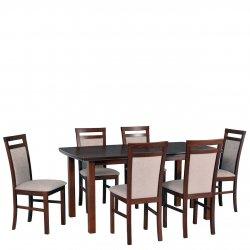 Stół rozkładany z 6 krzesłami - AL14