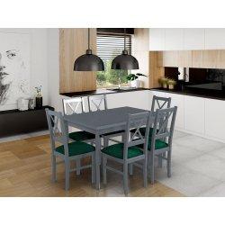 Stół rozkładany z 6 krzesłami - AL25