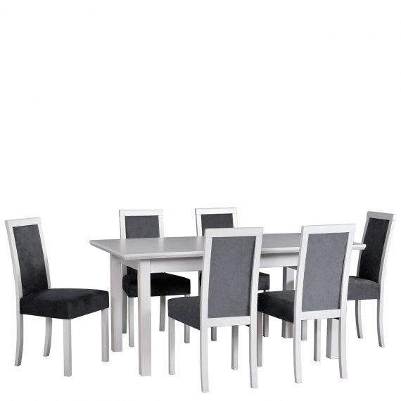 Stół rozkładany z 6 krzesłami - AL68