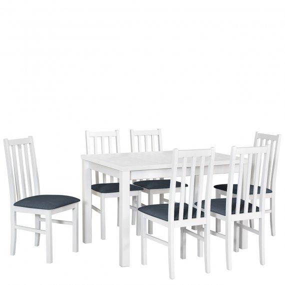Stół rozkładany z 6 krzesłami - AL18
