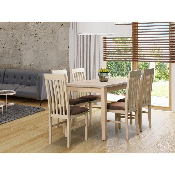 Stół rozkładany z 5 krzesłami - AL22