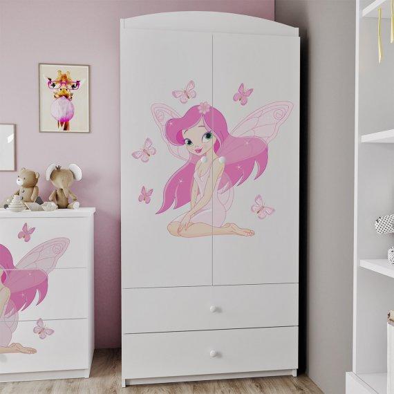 Szafa dwudrzwiowa z szufladami Elsa