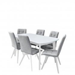 Nowoczesny stół z krzesłami dla 6 osób - RK053
