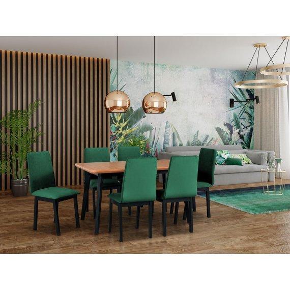 Stół rozkładany z 6 krzesłami - AL51