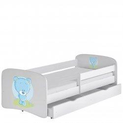 Łóżko dziecięce z pojemnikiem i materacem Elsa