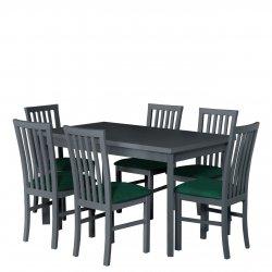 Stół z 6 krzesłami AL36