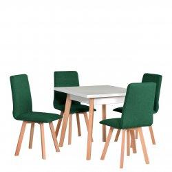 Stół kwadratowy z 4 krzesłami - AL38