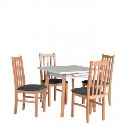 Stół kwadratowy z 4 krzesłami - AL39