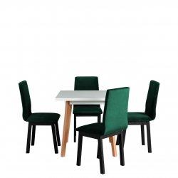 Stół kwadratowy z 4 krzesłami - AL40
