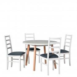 Stół okrągły z 4 krzesłami - AL41