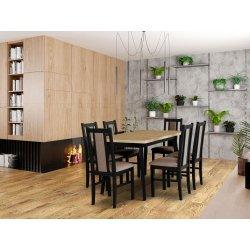 Stół rozkładany z 6 krzesłami - AL46