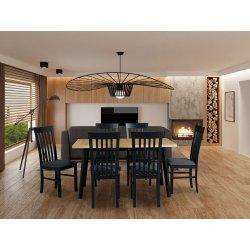 Stół rozkładany z 6 krzesłami - AL47
