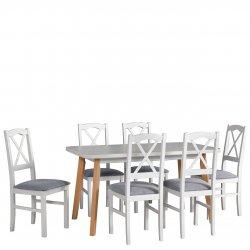 Stół rozkładany z 6 krzesłami - AL48
