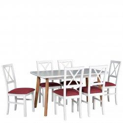 Stół rozkładany z 6 krzesłami - AL52