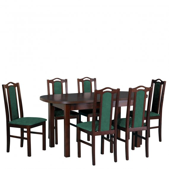Stół rozkładany z krzesłami dla 6 osób - AL56