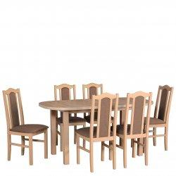 Stół rozkładany z krzesłami dla 6 osób - AL57