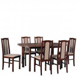 Stół rozkładany z krzesłami dla 6 osób - AL58