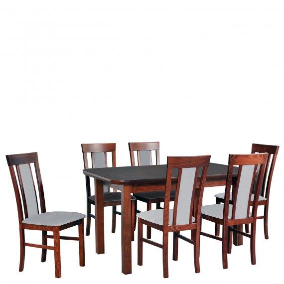 Stół rozkładany z krzesłami dla 6 osób - AL70