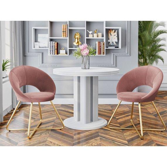 Komplet dwóch nowoczesnych krzeseł Archie 105