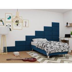 Łóżko tapicerowane pojedyncze Estelle-Baza