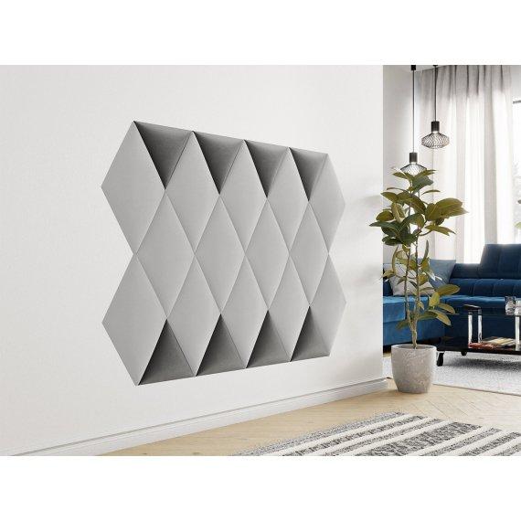 Panel ścienny tapicerowany trójkąt Bag III
