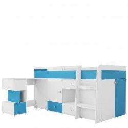 Łóżko młodzieżowe z biurkiem Oblada OB21